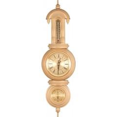 "M-03 Weather Station Clock ""Ivory"""